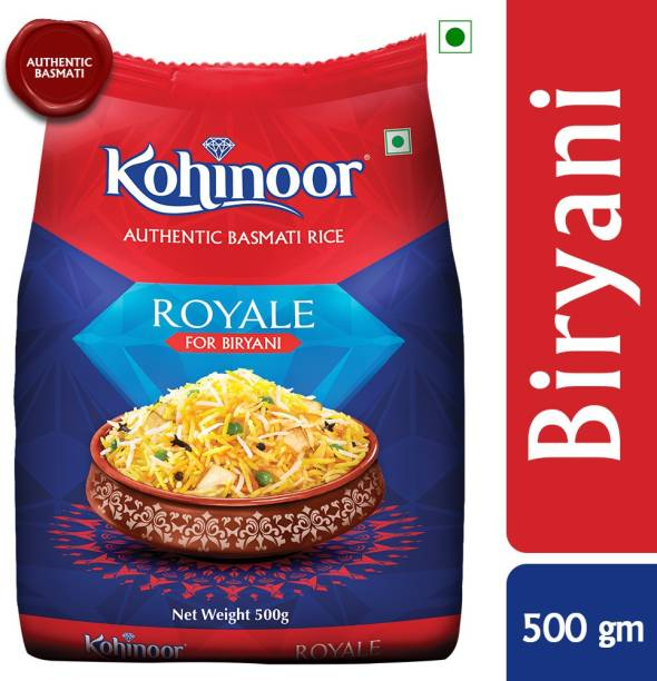 KOHINOOR Royal, Authentic biryani Basmati Rice (500 g) Red Basmati Rice (Medium Grain, Raw)