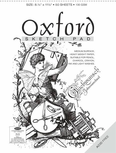 variety A/4 OXFORD SKETCH BOOK 130GSM Sketch Pad