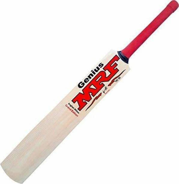 MRF Genius Virat Kohli bat|Size-4| For 8-11 Years Boys/Girls|Tennis Ball With Cover|Under 500 Poplar Willow Cricket  Bat