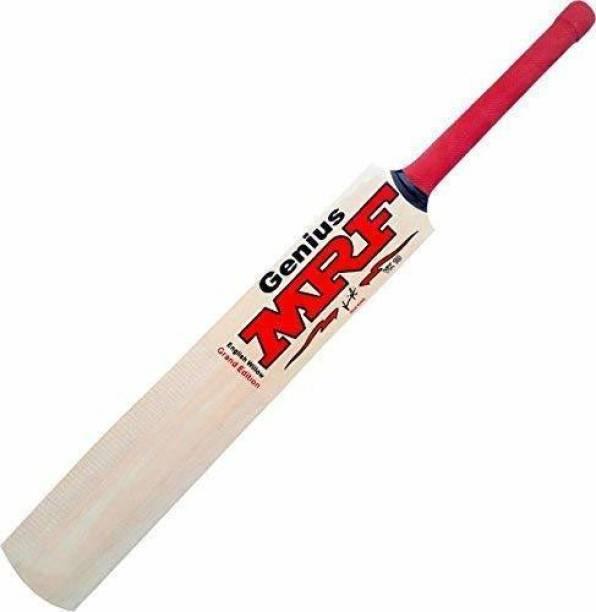 MRF Genius Virat Kohli bat|Size-4| For 8-11 Years Boys/Girls|Tennis Ball With Cover|Under 500 Poplar Willow Cricket  Bat