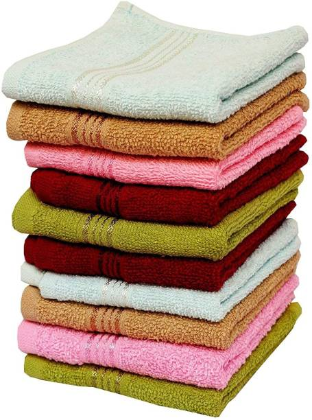 THE BEGED Cotton 200 GSM Hand, Face Towel Set