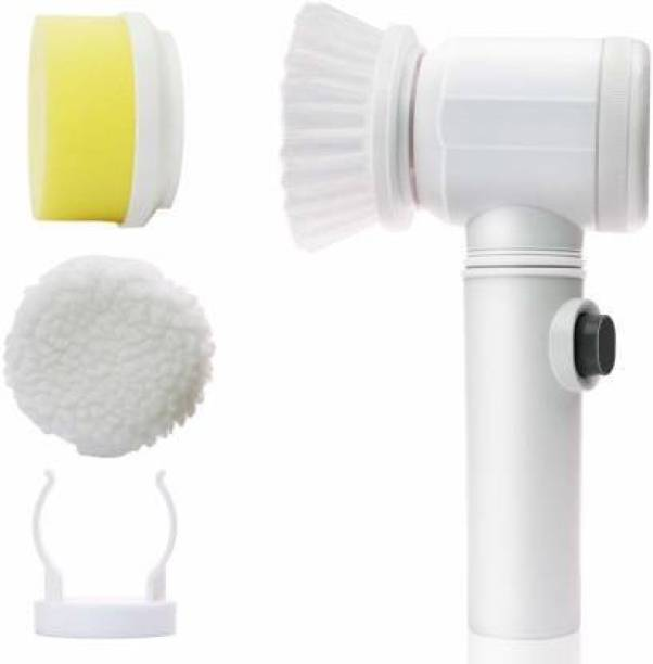 Radhe Electric Power 5 in 1 Scrubber Cleaning Brush for Kitchen Bathroom Tub Shower Tile Carpet Sink Drain Cleaner Plastic Wet and Dry Brush Plastic Wet and Dry Brush