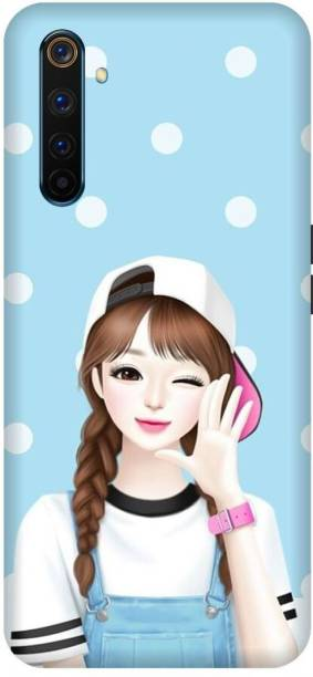 MD CASES ZONE Back Cover for Realme 6 Pro Girl Cute printed back cover