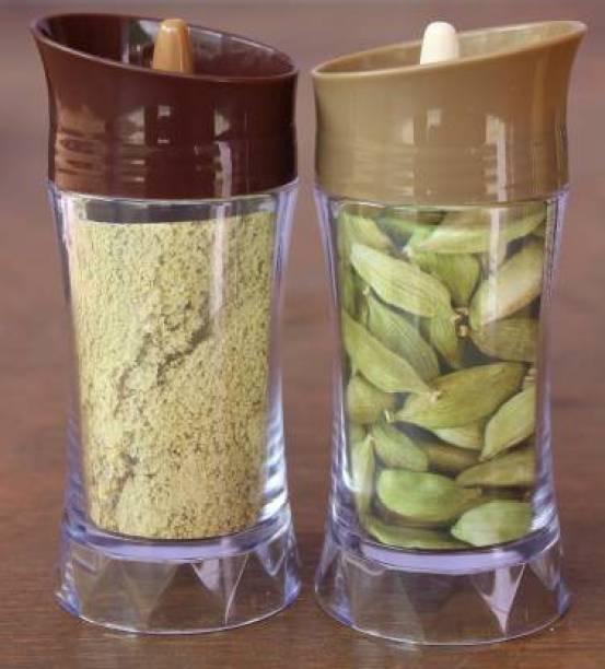 staribis 2pcs-Unbreakable Masala Box Kitchen Storage Containers 1 Piece Salt & Pepper Set (Plastic) 2 Piece Spice Set