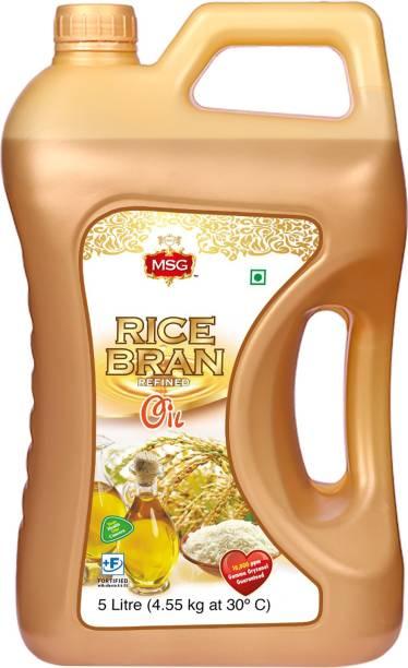 MSG Premium Rice Bran Refined Oil Rice Bran Oil Can