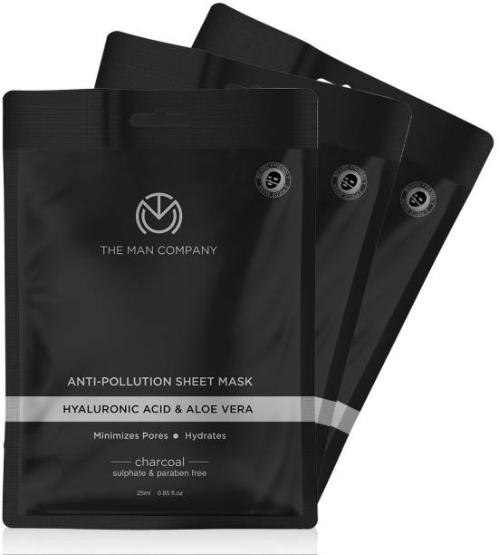 THE MAN COMPANY Charcoal Face Sheet Mask