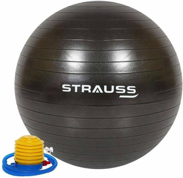 Strauss Anti Burst Black 85 CM Gym Ball