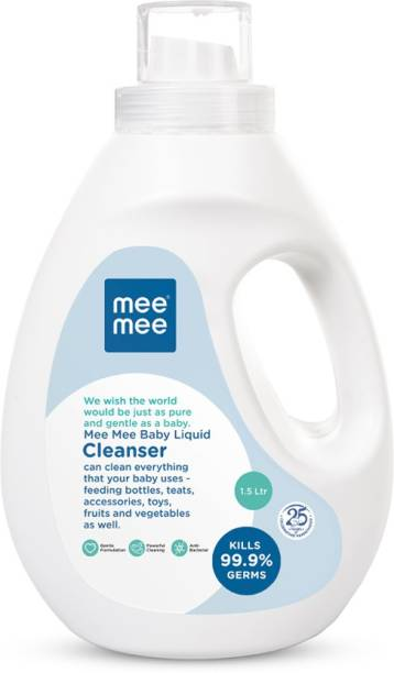 MeeMee Anti-Bacterial Baby Liquid Cleanser for Fruits, Bottles, Accessories & Toys - 1.5L Liquid Detergent
