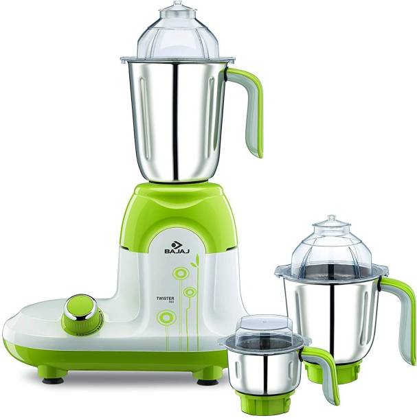 BAJAJ TWISTER DLX 750W 750 Mixer Grinder (3 Jars, White/Green)