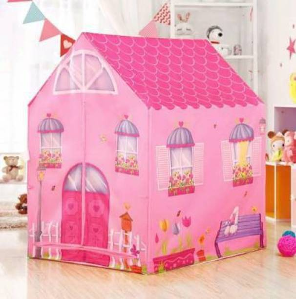 VISHAL Jumbo Size Extremely Light Weight , Water & Fire Proof Doll House Tent for Kids Heavy Materials