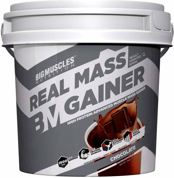 BIGMUSCLES NUTRITION Real Mass Gainer 5Kg Weight Gainers/Mass Gainers