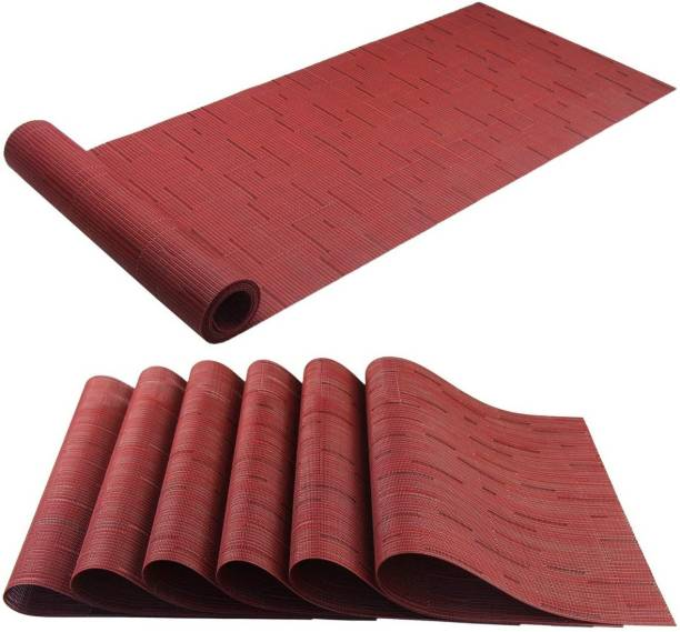 Royalkart Red PVC Table Linen Set