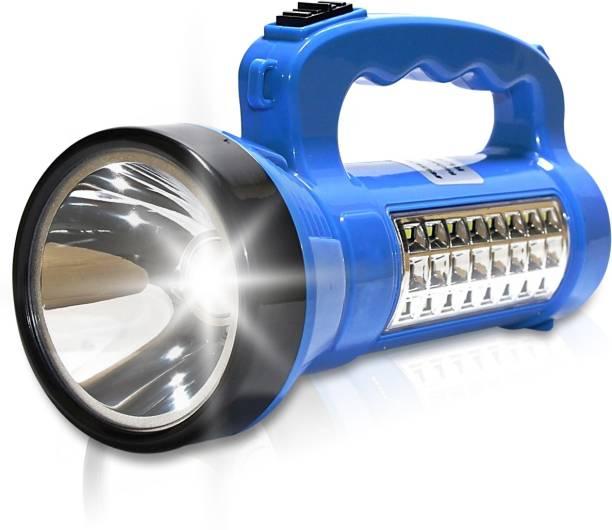 Pick Ur Needs SOLAR Primium Quality Led Rechargeable Torch 30 Watt + 24 SMD Side Light Torch Emergency Light