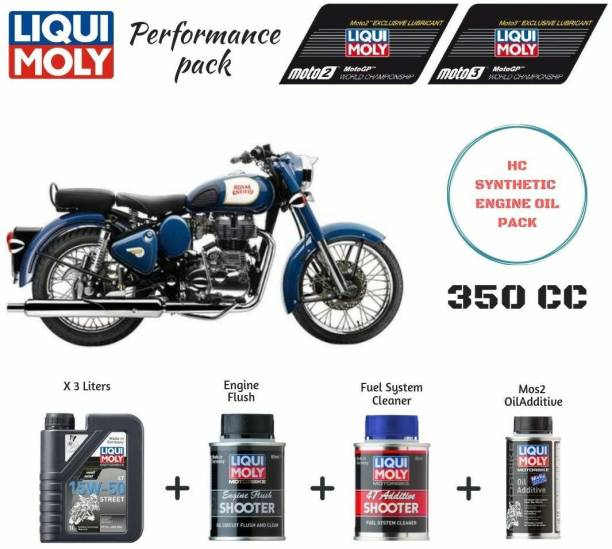 Liqui Moly Performance Pack Combo for Royal Enfield Bikes Performance Pack Combo for Royal Enfield Bikes Synthetic Blend Engine Oil