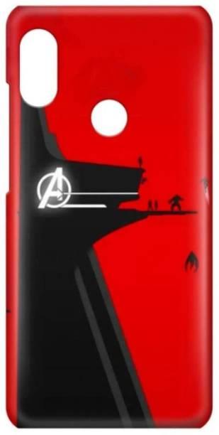 Accezory Back Cover for Mi Redmi Note 7 Pro, CAPTAIN AMERICA, IRON MAN, AVENGERS, BLACK