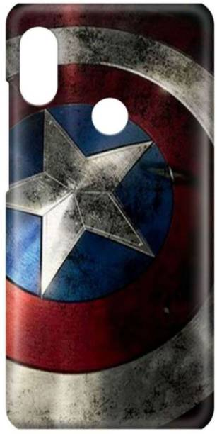 Accezory Back Cover for VIVO Y91, CAPTAIN AMERICA, IRON MAN, AVENGERS, For Boys