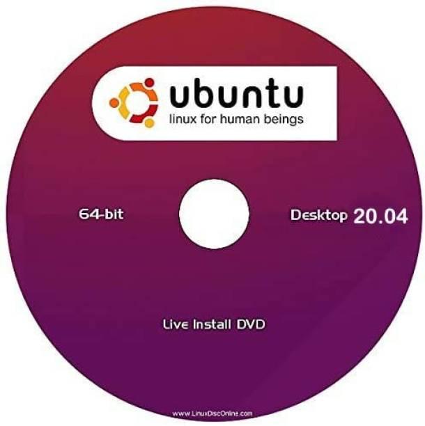 ubuntu Ubuntu20.04 64 bit DVD Most Popular Ubuntu Linux Operating System Most Latest Ver 2020. 64- bit
