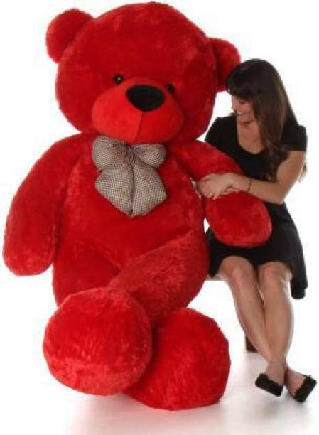 Teddy Weddy 4 Feet Large (Seeting) Cute Soft Teddy Bear For Gift & Bithday Partys Other - 120.5 cm (Red)  - 120.5 cm