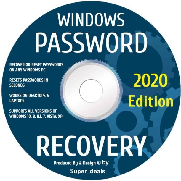 Compatible Windows Password Reset Recovery Disk Windows 10, 8.1, 7, Vista, XP Rated #1 Best Unlocker Remove Software CD DVD For All Windows PC Computers Laptops & Desktops