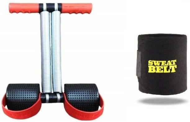 Shopeleven combo double srping Tummy Trimmer & sweat belt body Ab exerciser Home,Gym kit ZC6 Ab Exerciser