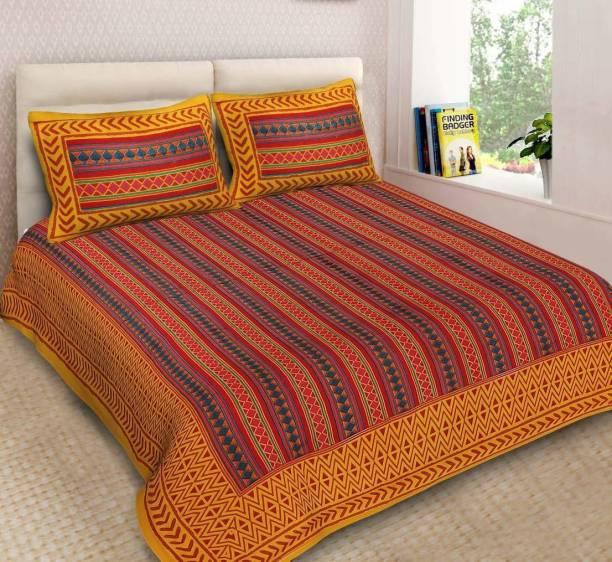 Hrida Fabrics 151 TC Cotton Double King Printed Bedsheet