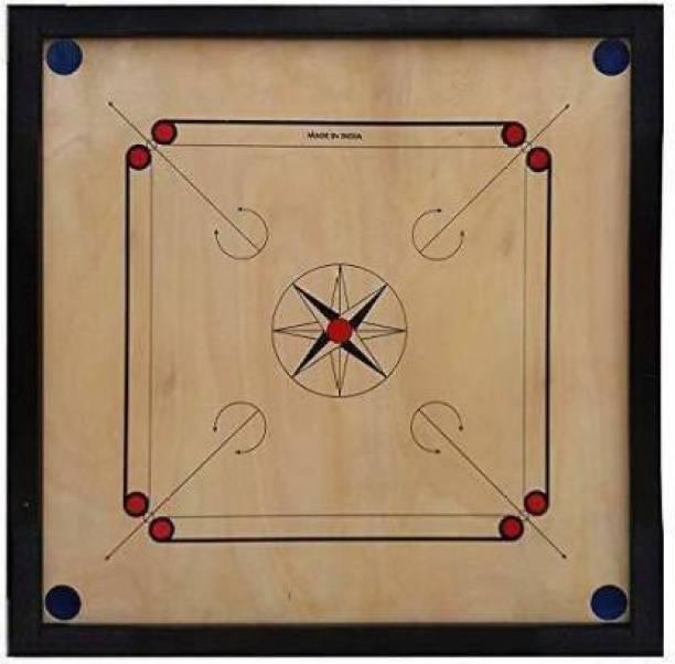 Pikpe Wooden Carrom Board 26x26 Inches(Coins & Striker Not Included) 26 inch Carrom Board (Multicolor) Carrom Board Board Game