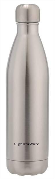 Signoraware Stainless Steel Aqualene Vaccum Steel Flask Bottle 1000ml 1000 ml Bottle