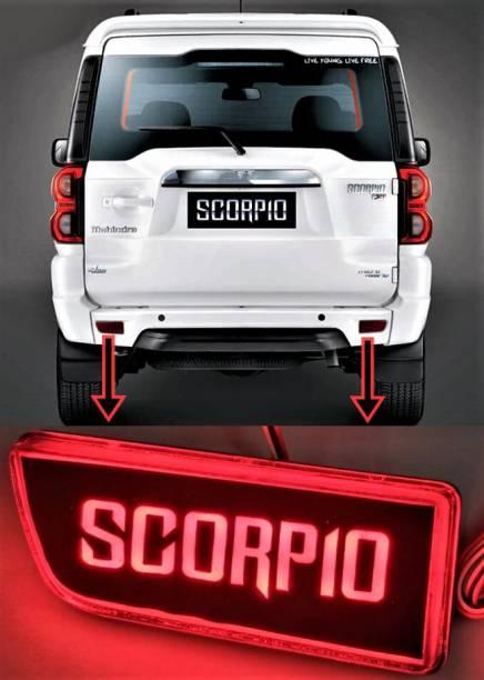 eliteauto Premium Car Reflector (Taiwan Quality) Scorpio Name design Back Bumper Reflector LED Brake DRL/Reflector Light for Scorpio Car Reflector Light