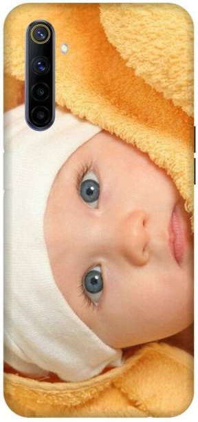 SAVETREE Back Cover for Realme 6, RMX2001, White Cap, Cute Baby, Grey Eyes, cute Face, Beautiful, Back cover