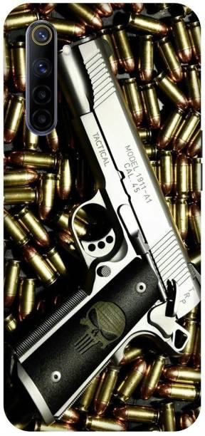 SAVETREE Back Cover for Realme 6i, RMX2002, Pistol, Bandook, Gun, Bullets, Mouser, Kill Will, Back cover
