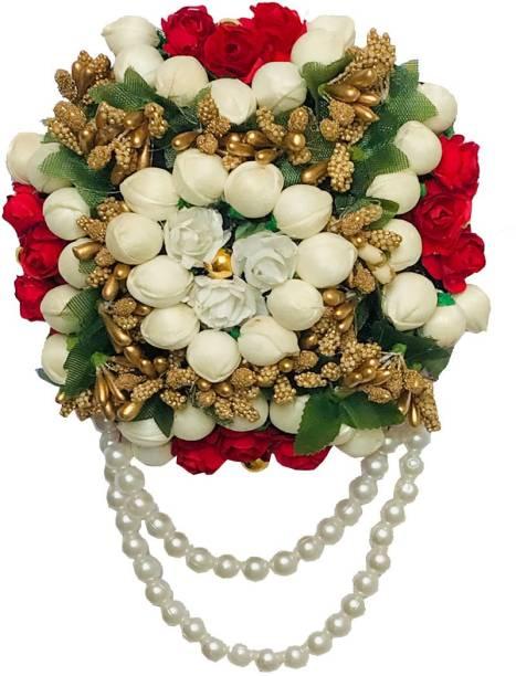 AROOMAN Flower Hair Juda/Bun,Accessores For Girls,Women Pack-01,(Color-Multi) Bun