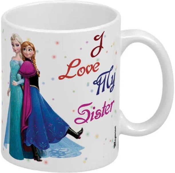 Wagwan I Love My Sister Happy Birthday Gift for Sister, Gifts for Sister Rakhi Gift, Raksha Bandhan Gift Bahen MG20488 Ceramic Coffee Mug