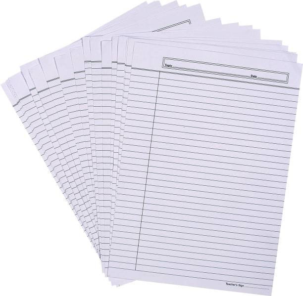 snow crafts Single Colour ONE SIDE RULED A4 85 gsm Project Paper