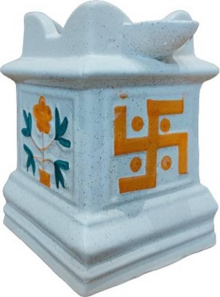 Niyara Niyara 23 Handcrafted Tulsi Ceramic Planter for Indoor and Outdoor Plant Container Set