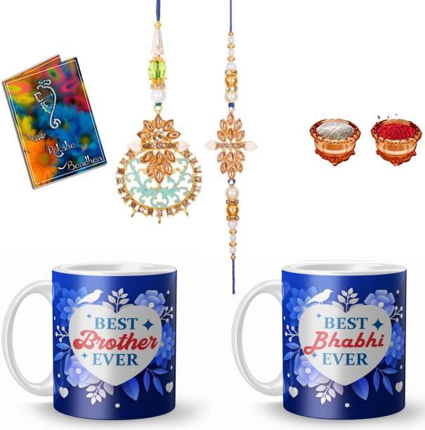 Plakasha creations Bhaiya Bhabhi Rakhi, Mug  Set