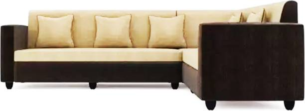 Brikwud Livingstor Corner Fabric 6 Seater  Sofa