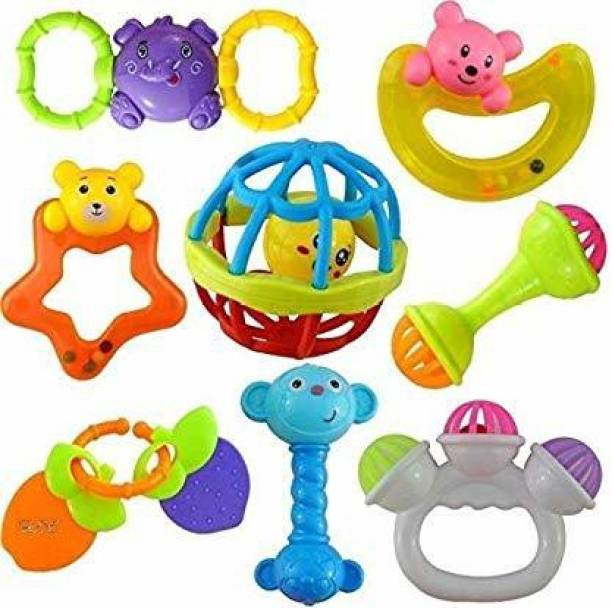 vworld Colorful Flexible Attractive Non Toxic And BPA Free High Quality Rattle Set for Babies,Toddlers,Infants,Child Rattle (Multi color) Rattle