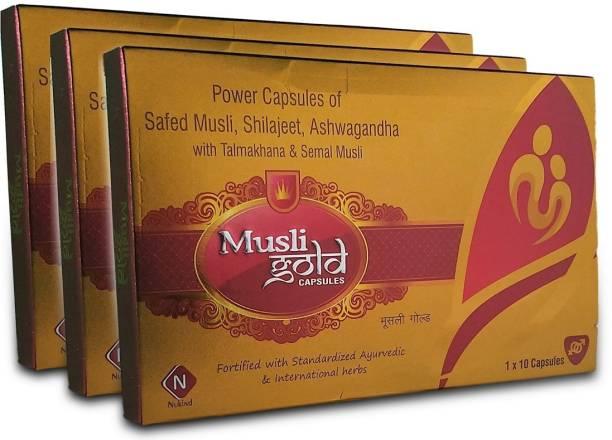 Nukind Musli gold capsules with ashwagandha,shilajeet