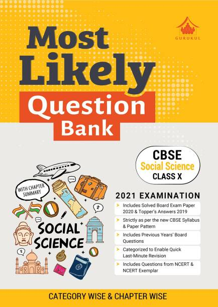 Most Likely Question Bank - Social Science: CBSE Class 10 for 2021 Examination
