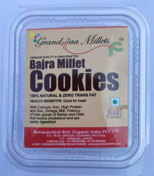 GRANDMAA Millets Bajra-Butter-Zero-Transfat Cookies, High Fiber Delicious Cookies