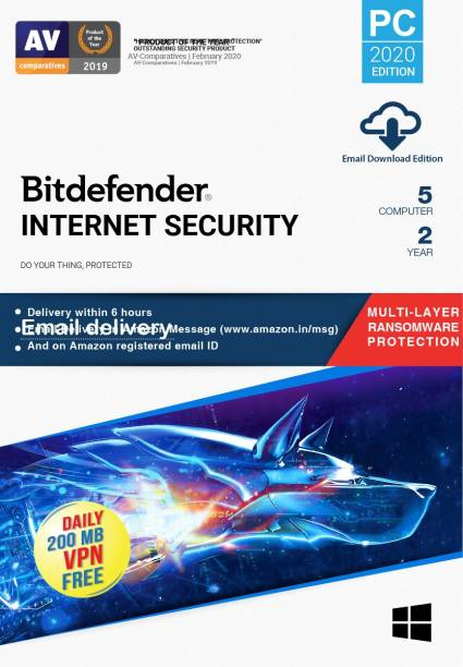 bitdefender 5 PC 2 Years Internet Security (Email Delivery - No CD)