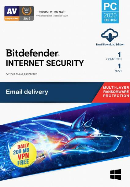 bitdefender 1 PC 1 Year Internet Security (Email Delivery - No CD)