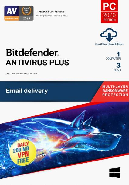 bitdefender 1 PC 3 Years Anti-virus (Email Delivery - No CD)