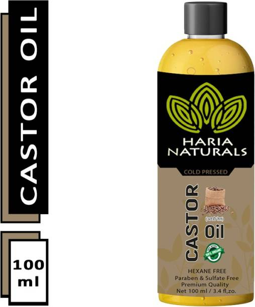 Haria Naturals Cold Pressed Castor Oil 100 ml Hair Oil