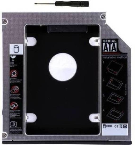 Flipkart SmartBuy 9.5mm Universal 2nd Hard Drive Bay Caddy For CD/DVD-ROM, Macbook PRO, Laptop 2.5 inch Internal Hard Drive Enclosure/HDD Caddy