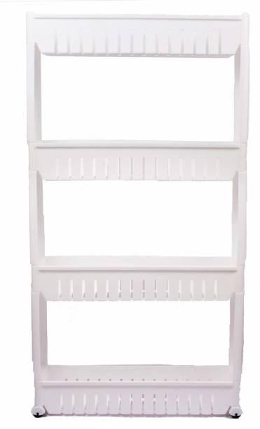 Elexoin 4 Layer Slim Side Space Saving Storage Organizer Rack Shelf with Wheels for Kitchen Bathroom Bedroom (4 Layer) Utensil Kitchen Rack
