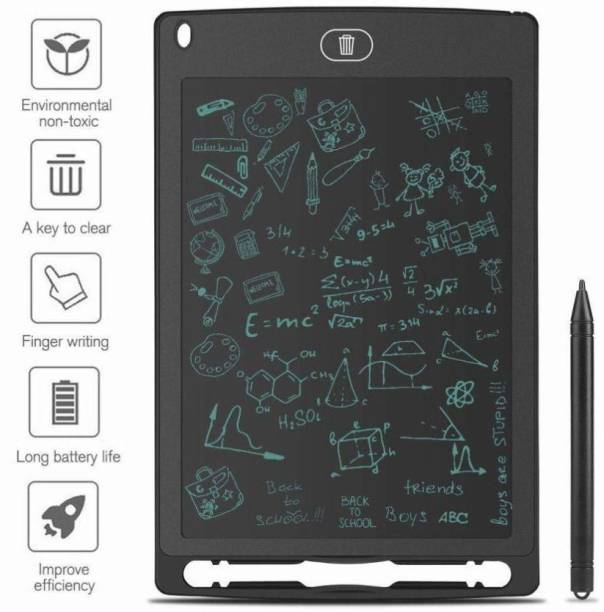 Ephemeral Portable LCD Writing Board Slate Drawing Record Notes Digital Notepad with Pen Handwriting Pad Paperless Graphic Tablet (Black) (Black)