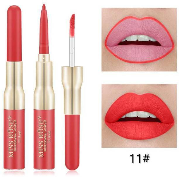 MISS ROSE Matte Lip Gloss With Lip Liner