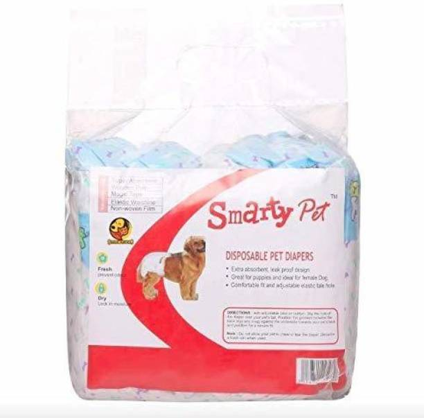 Pooch Box Disposable Pet Diapers for Dogs (Small, 390mm X 290mm, 12 pcs) Disposable Dog Diapers