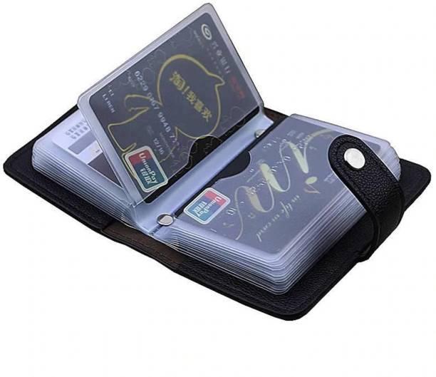 Flipkart SmartBuy Black 28 Slots Leather Business 24 Card Holder